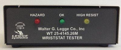 Static control wrist strap tester